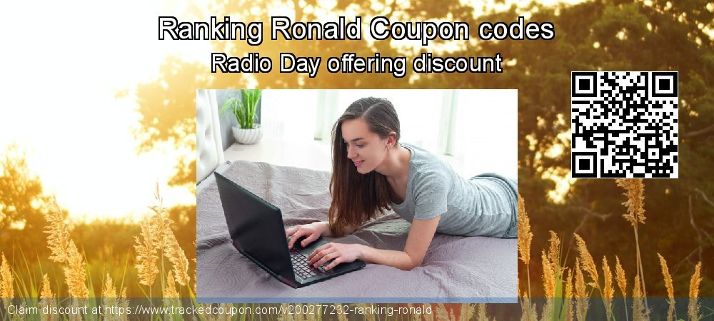 Ranking Ronald Coupon discount, offer to 2020