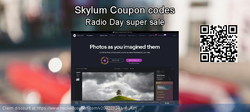 Skylum Coupon discount, offer to 2020  Lover's Day