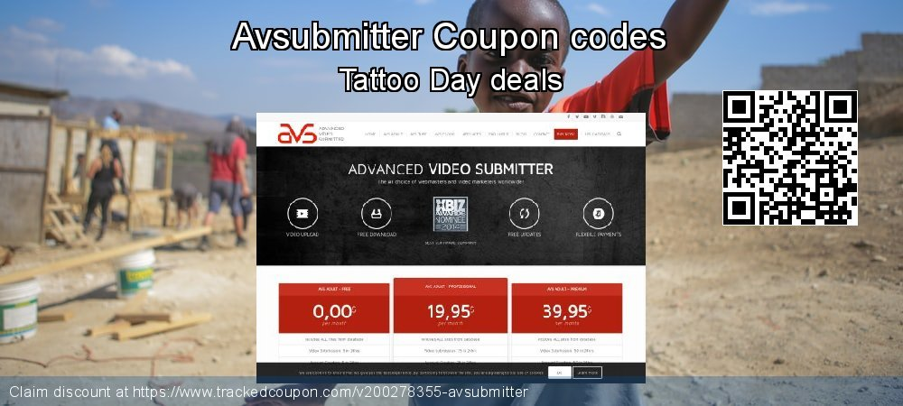 Avsubmitter Coupon discount, offer to 2021
