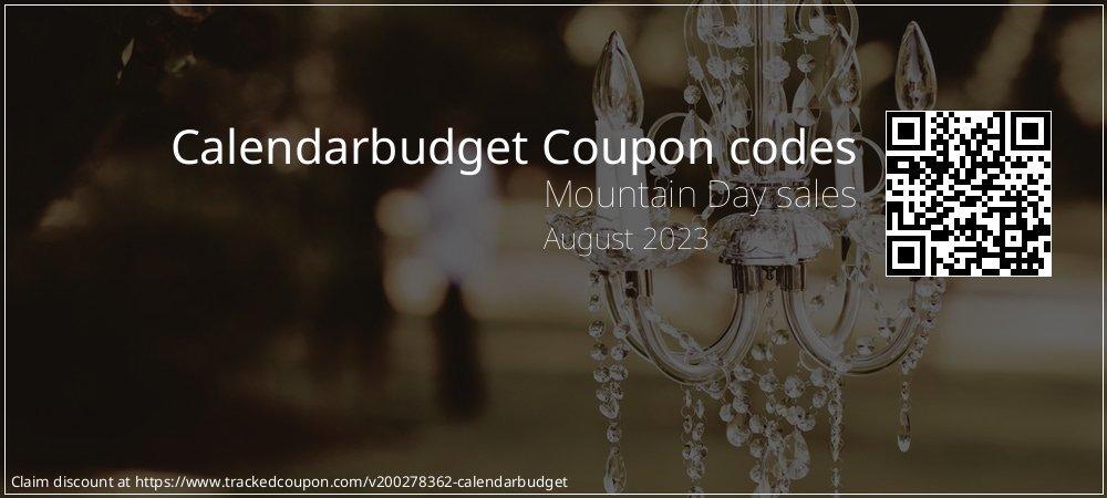 Calendarbudget Coupon discount, offer to 2020