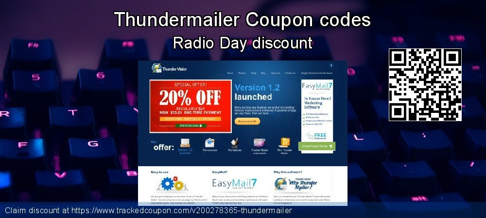 Thundermailer Coupon discount, offer to 2021
