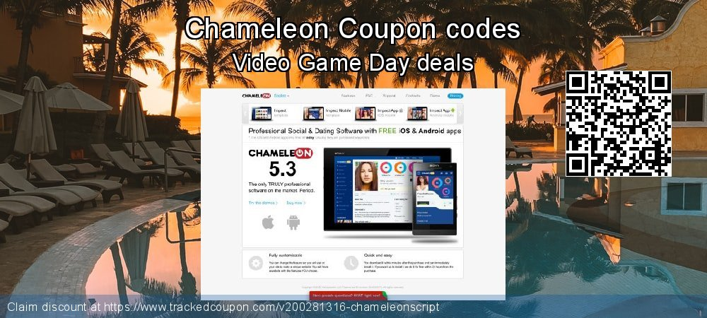 Chameleon Coupon discount, offer to 2021
