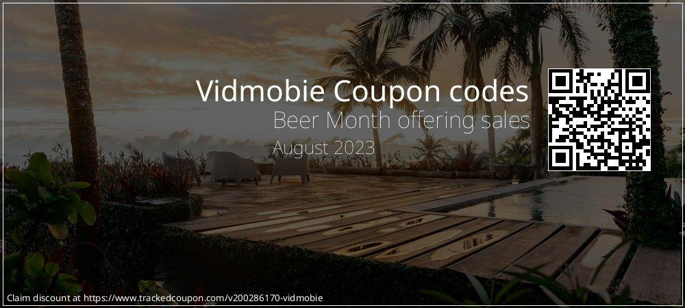 Vidmobie Coupon discount, offer to 2021