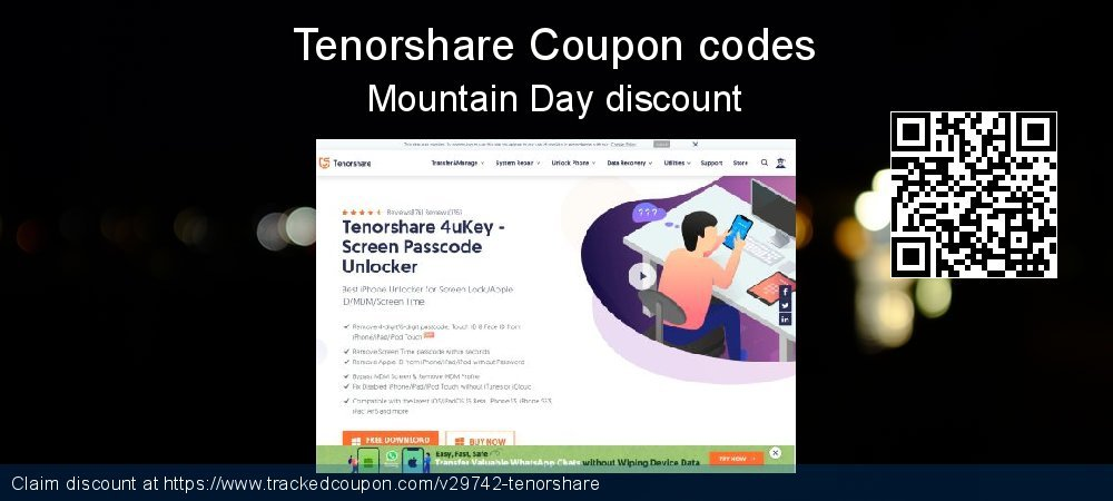 Tenorshare Coupon discount, offer to 2019 Halloween
