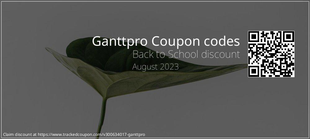 Ganttpro Coupon discount, offer to 2021