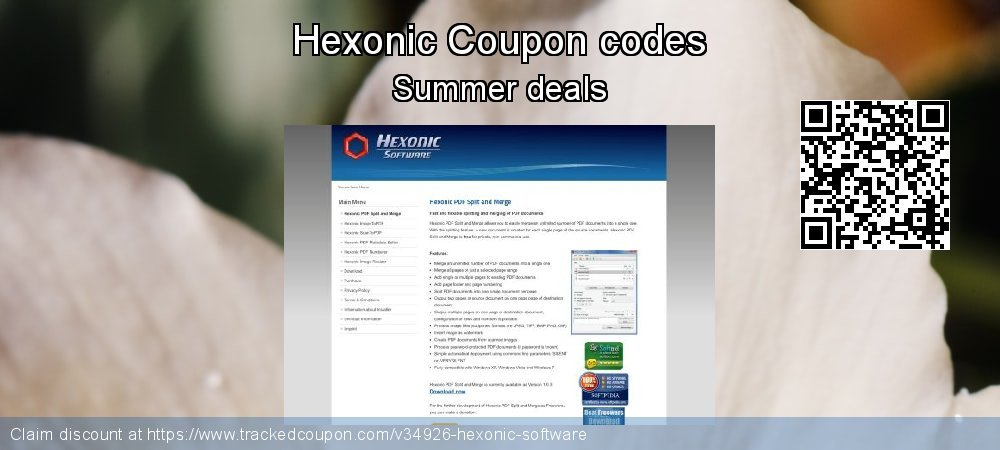 Hexonic Software Coupon discount, offer to 2018 X'mas