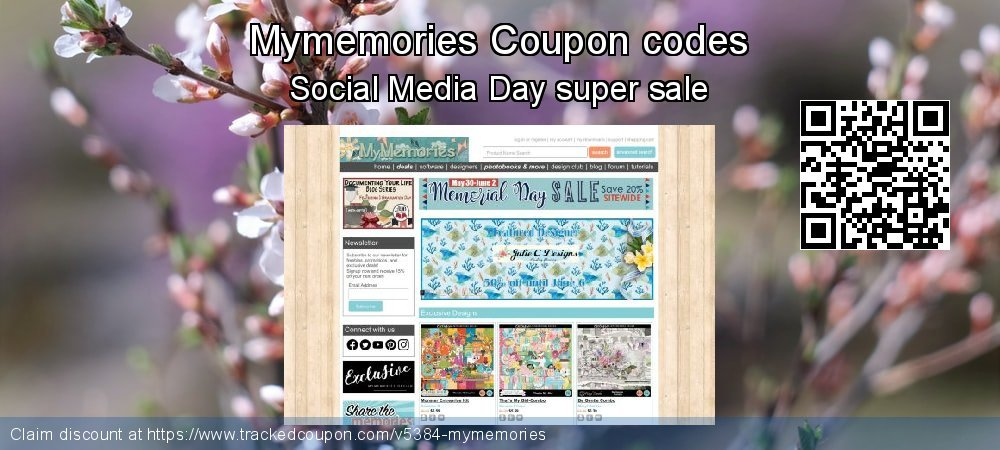Mymemories Coupon discount, offer to 2021