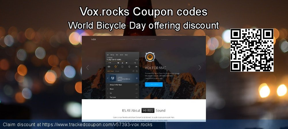 Vox.rocks Coupon discount, offer to 2021