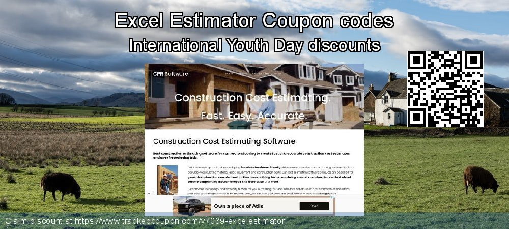 Excel Estimator Coupon discount, offer to 2018 End of Year