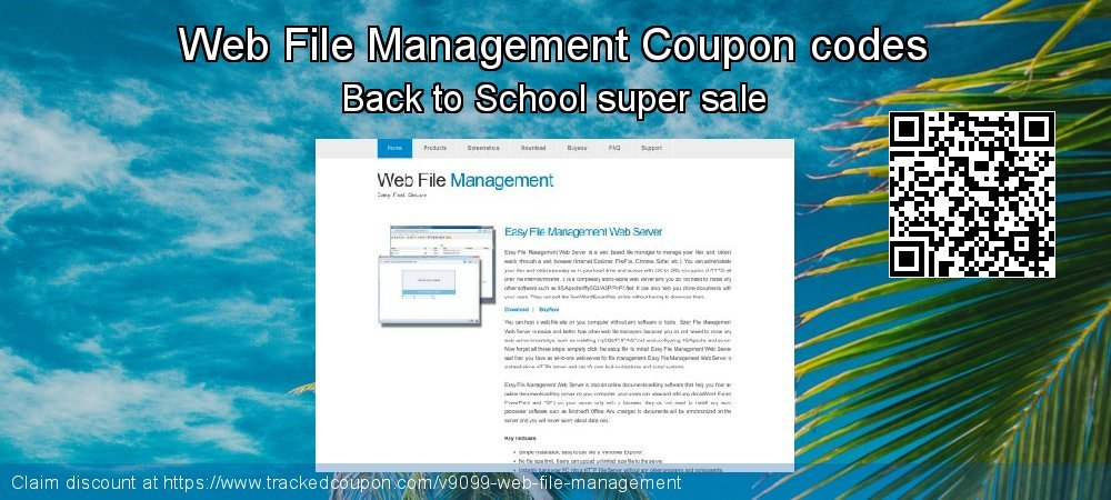 Web File Management Coupon discount, offer to 2021